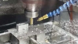 Progress CNC Test milling on Alluminium AP=5mm S=4000rpm D=12mm HSS