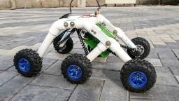 How to Make a Mars Rover / Rocker bogie Robot at Home - Stair climbing