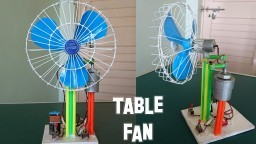 How to Make a Revolving Table Fan at Home - Best out of waste