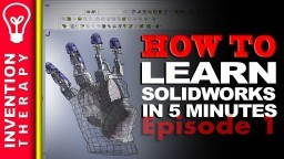 Learn Solidworks in 5 Minutes! | Solidworks Tutorial