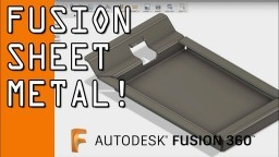 Fusion 360 Sheet Metal Tutorial! FF94