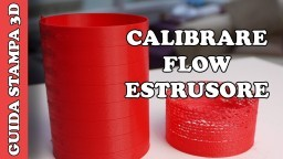 CALIBRARE FLUSSO DI ESTRUSIONE - TUTORIAL STAMPA 3D