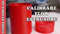 CALIBRARE FLUSSO DI ESTRUSIONE - TUTORIAL STAMPA 3D