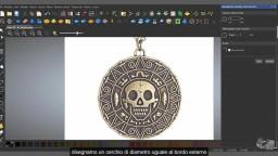 #Artcam Medaglione dei pirati dei Caraibi Vettorizzare l'immagine - prima parte